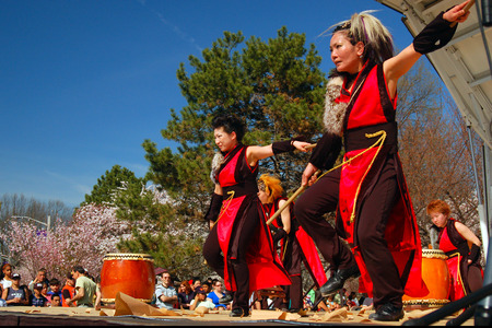 A Japanese Taiko Drum and Dance Performance Editorial