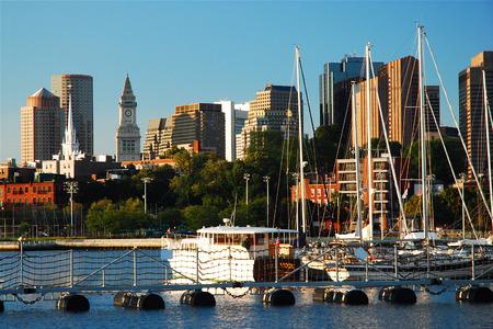 pleasure craft: Boston Skyline from Harbor