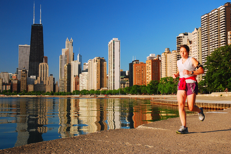 Jogger in the Windy City