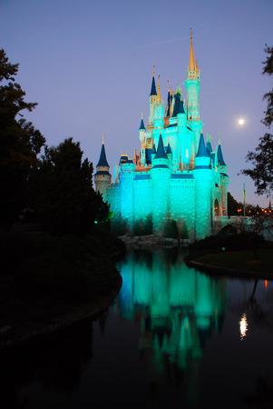 Moon Rising on Cinderellas Castle