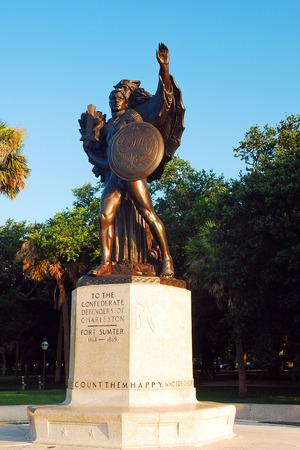 Confederate Defenders Memorial, Charlestown Stock Photo