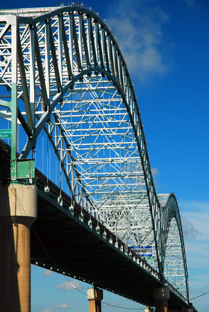 The DeSoto Bridge Spans the Mississippi River In Memphis, Tennessee