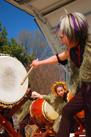 drumming: Japanese Taiko Drumming Demonstration Editorial