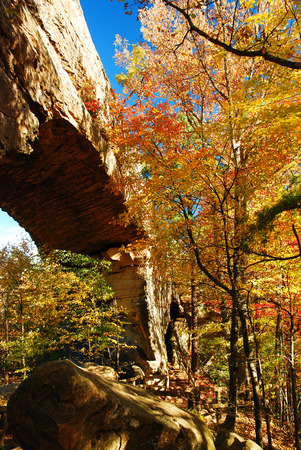 Autumn at Natural Bridge State Resort