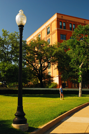 The School Book Depository Building in Dallas where Lee Harvey Oswald shot JFK