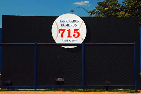 Remains of the Altanta Fulton County Stadium, Where Hank Aaron hit his record setting home run in 1974