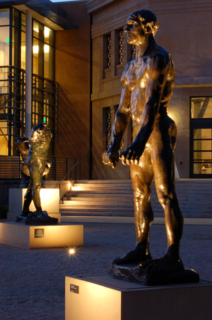 Rodin Statues outside the Rodin Museum, Stamford University Editorial