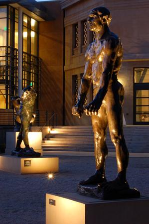 rodin: Rodin Statues outside the Rodin Museum, Stamford University Editorial