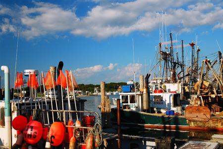 Fishermens Fleet, Montauk Stock Photo