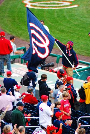 Fan of the Washington Nationals Baseball Tear Editorial