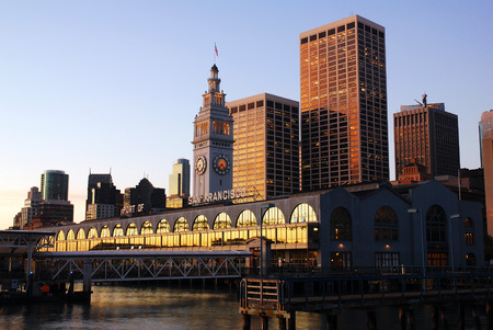 Early Morning Glow on the Historic Ferry Building in San Francisco