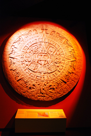 Ancient Axtec Artwork on display at the Field Museum in Chicago Editorial