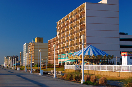 Virginia Beach Boardwalk Stock Photo