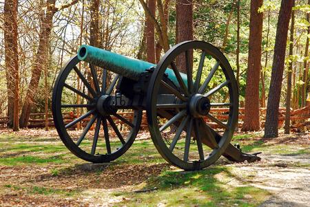 Cannon at Fredericksburg Civil War Battlefield Stock Photo