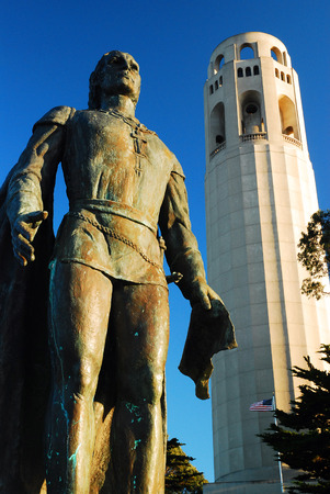 Columbus and the Coit Tower, San Francisco