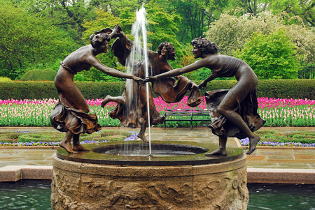 conservatory: Dancing Nympths in Central Park Conservatory Garden