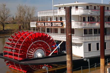 california delta: Historic Delta Queen Paddle Boat, on the Sacramento River