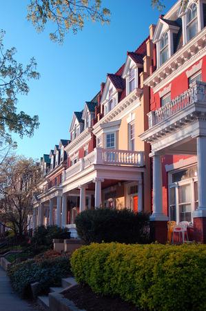dwell house: Historic Memorial Drive, Richmond, Virginia Stock Photo