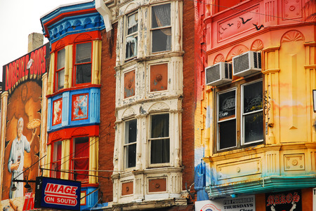 Colorful Storefronts, South Street, Philadelphia Imagens
