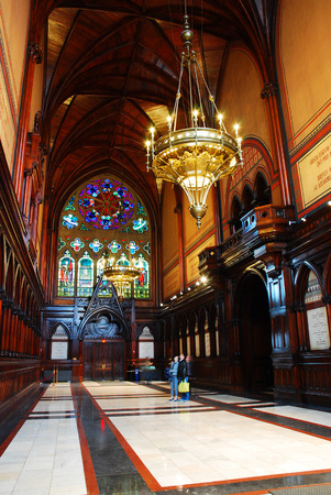 Interior of Harvard Universitys Memorial Hall