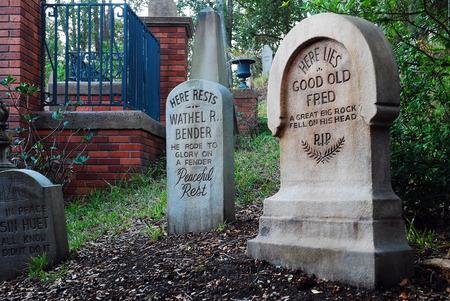 tombstones: Humorous Tombstones at Disneys Haunted Mansion Ride