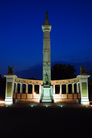 Jefferson Davis Memorial on Monument Boulevard Richmond Virginia Stock Photo
