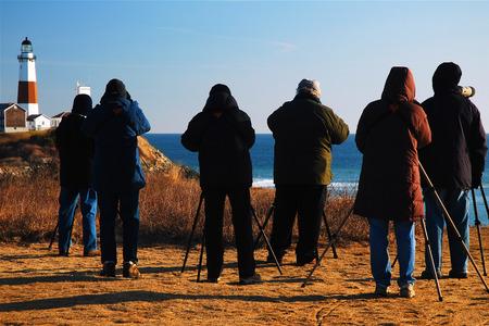 montauk: Bird Watchers at Montauk Point
