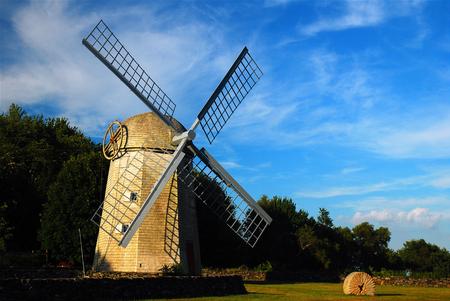 Jamestown Windmill Stock Photo