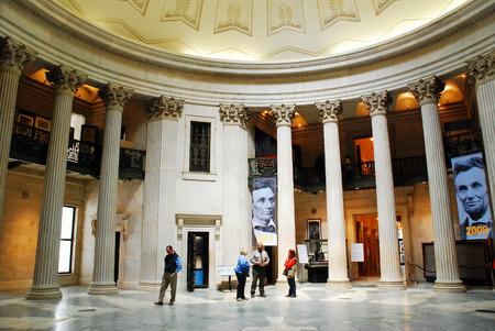 george washington: Interior of Federal Hall, Where George Washington took the Oath of the Presidency, New York City