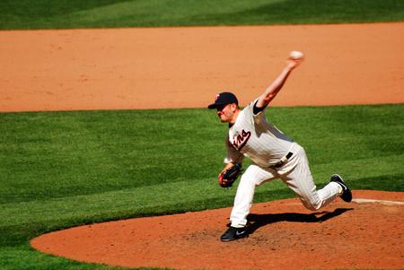 Minnesota Twins Pitcher Reaching for Power