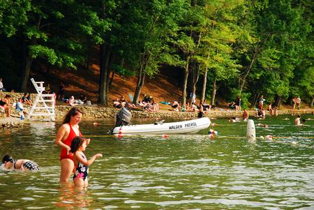 Summer Day at Walden Pond, Massachusetts