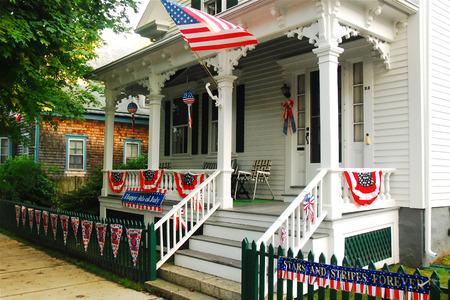 suburban neighborhood: Patriotism on Display Editorial