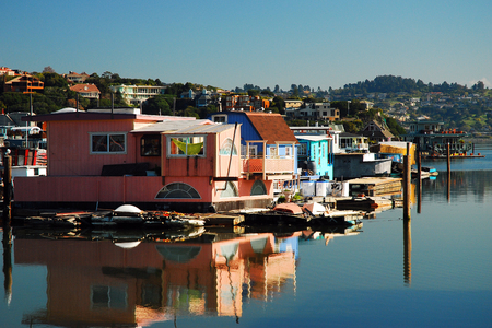 Houseboats, a Common Site in Sausalito California