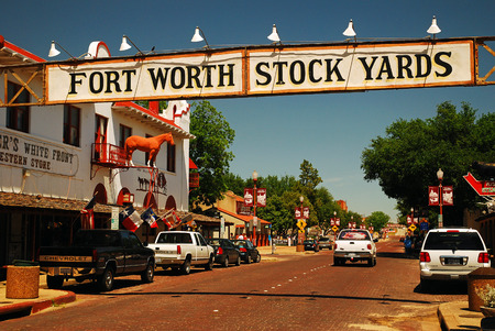 The Entrance to the Ft Worth Stockyards