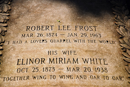 The grave of Poet Robert Frost and his wife