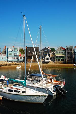Sailboats at Rockport Editorial