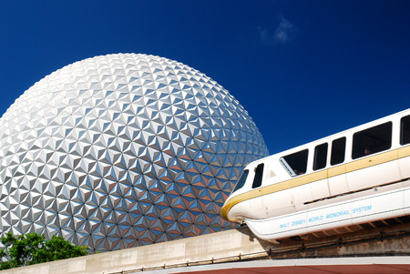 Epcot, Spaceship Earth and Monorail Editorial