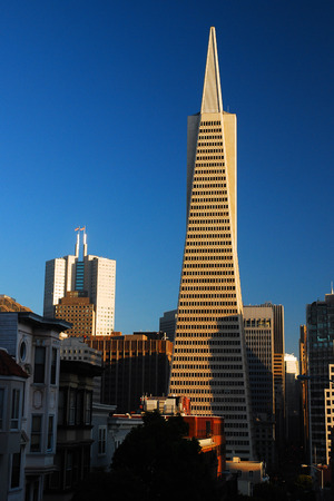 Coit Tower and Transamerica Pyramid