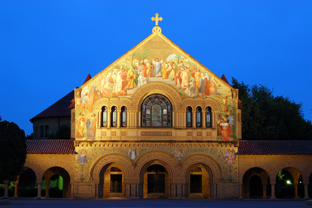 Stamford Memorial Chapel, Palo Alto, California Stock Photo