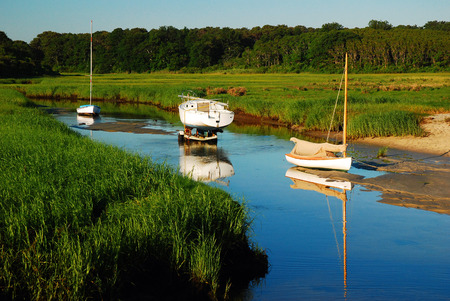 northeastern: PAines Creek, Cape Cod Stock Photo