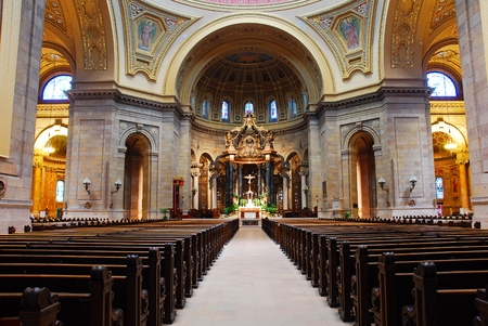 Interior of St Pauls Cathedral, St Paul Minnesota