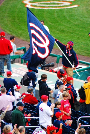 Fans of the Washington Nationals Baseball Team