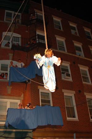 Flight of the angel, the finale of the Fihserman's Feast in Boston 新聞圖片