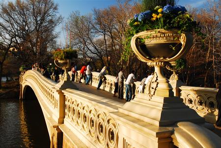 Spring on the Bow Bridge, Central Park, New York