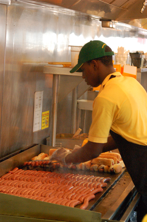 Hot Dog chef Editorial