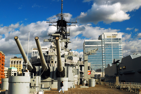 On the Deck of the USS Wisconsin, Norfolk, Virginia