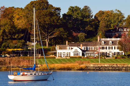 Luxe Waterfront huizen in Greenwich Connecticut