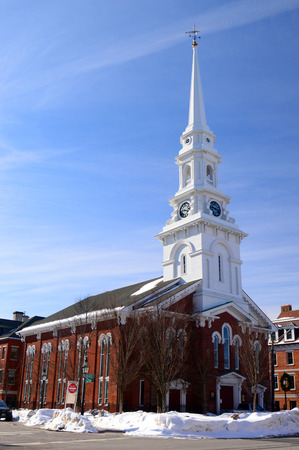 Portsmouths Old North Church on Market Square