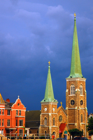 St Marys of the Cataract in an Approaching Storm, Niagara Falls Editorial