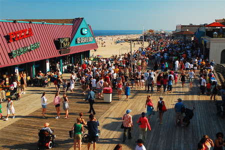 Summer on the Jersey Shore Boardwalk in Point Pleasant Editorial